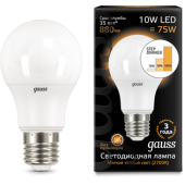 102502110-S Лампа Gauss LED A60 10W E27 880lm 2700K step dimmable