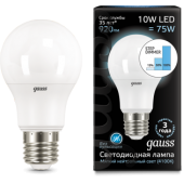 102502210-S Лампа Gauss LED A60 10W E27 920lm 4100K step dimmable